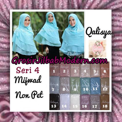 Jilbab Syar'i Khimar Mijwad Non Pet Seri 4 Original By Qalisya Brand Series