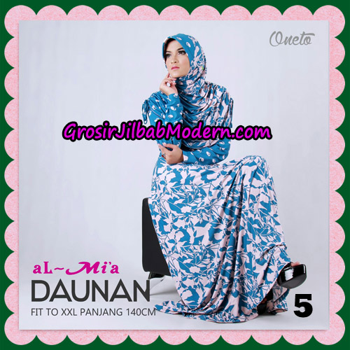 Gamis Setelan Daunan Cantik Original By Almia ( Al-Mi'a Brand ) No 5