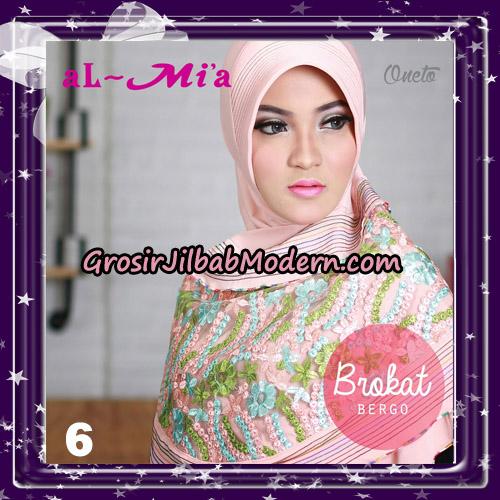 Jilbab Brokat Bergo Almia Cantik Original By Almia ( Al-Mi'a Brand ) No 6