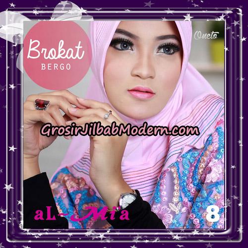 Jilbab Brokat Bergo Almia Cantik Original By Almia ( Al-Mi'a Brand ) No 8