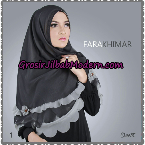 Jilbab Instant Cerutti Cantik Fara Khimar Support By Oneto Hijab No 1