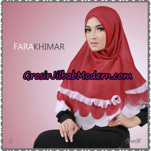 Jilbab Instant Cerutti Cantik Fara Khimar Support By Oneto Hijab No 8