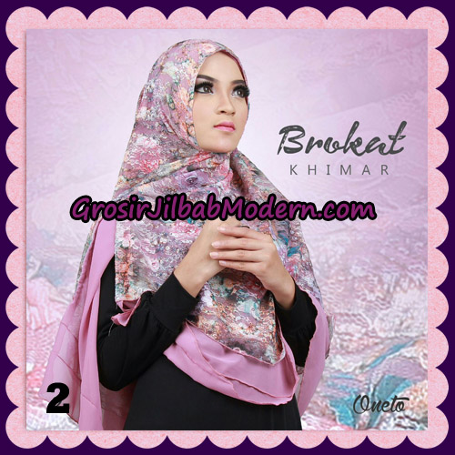 Jilbab Instant Khimar Brokat Cantik Support By Oneto Hijab No 2