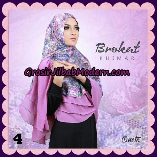 Jilbab Instant Khimar Brokat Cantik Support By Oneto Hijab No 4