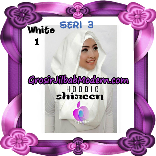 Jilbab Instant Modis Shireen Hoodie Seri 3 Original By Apple Hijab Brand No 1 White