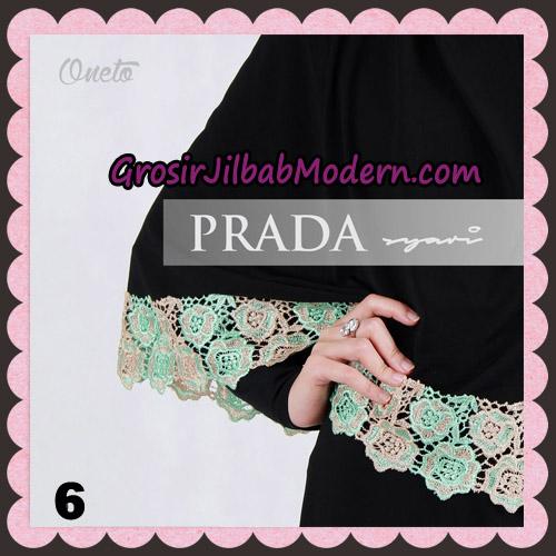 Jilbab Instant Prada Jumbo Syar'i Mawar Support By Oneto Hijab No 6