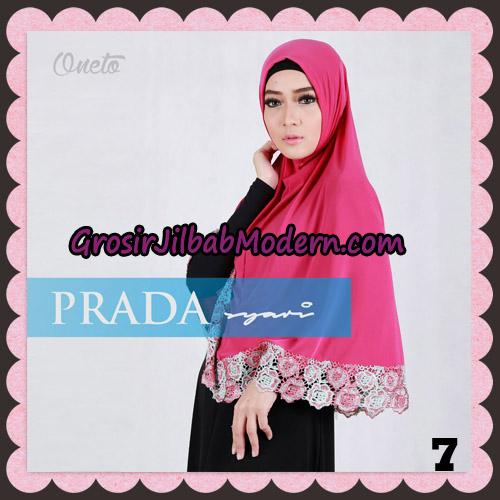 Jilbab Instant Prada Jumbo Syar'i Mawar Support By Oneto Hijab No 7