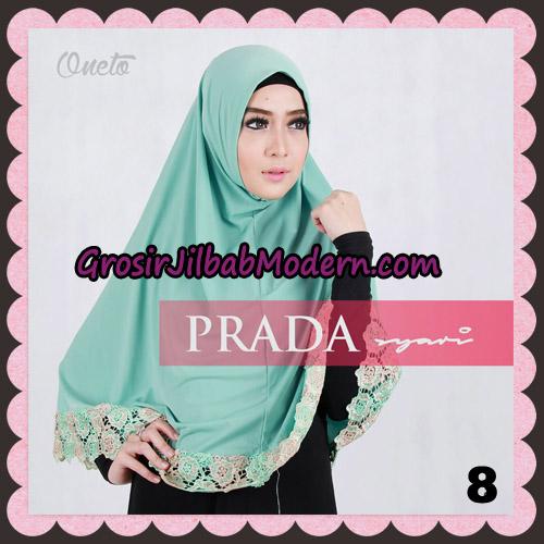 Jilbab Instant Prada Jumbo Syar'i Mawar Support By Oneto Hijab No 8