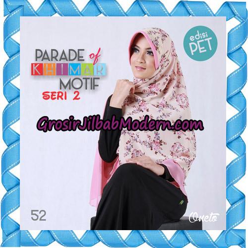 Jilbab Parade Of Khimar Motif Kombinasi Polos Pet Seri 2 Support By Oneto Hijab No 52