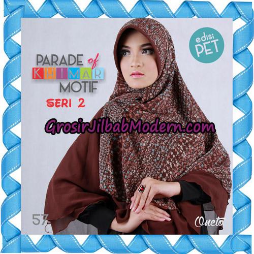 Jilbab Parade Of Khimar Motif Kombinasi Polos Pet Seri 2 Support By Oneto Hijab No 57