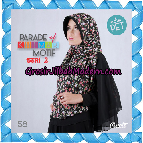 Jilbab Parade Of Khimar Motif Kombinasi Polos Pet Seri 2 Support By Oneto Hijab No 58