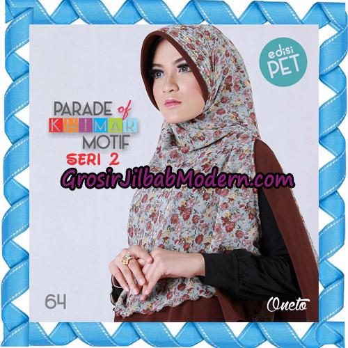 Jilbab Parade Of Khimar Motif Kombinasi Polos Pet Seri 2 Support By Oneto Hijab No 64