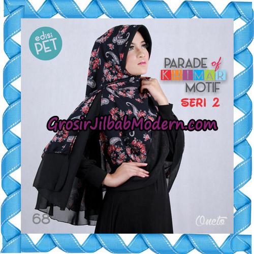 Jilbab Parade Of Khimar Motif Kombinasi Polos Pet Seri 2 Support By Oneto Hijab No 68