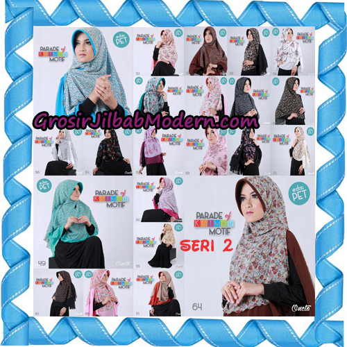 Jilbab Parade Of Khimar Motif Kombinasi Polos Pet Seri 2 Support By Oneto Hijab Series