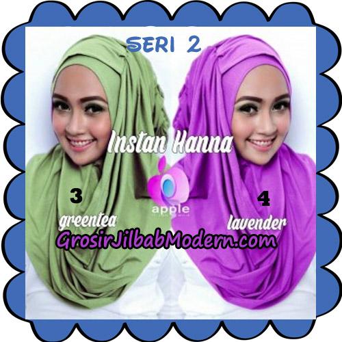 Jilbab Pashmina Instant New Hanna Seri 2 Original By Apple Hijab Brand No 3 - 4