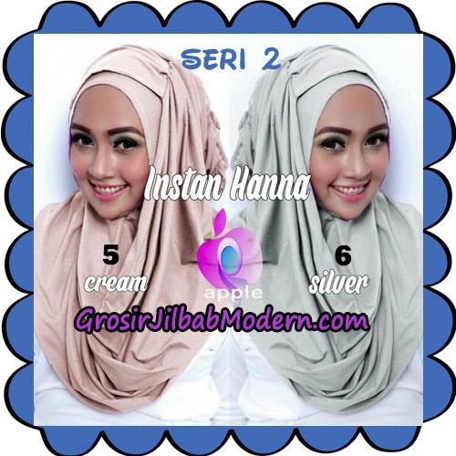 Jilbab Pashmina Instant New Hanna Seri 2 Original By Apple Hijab Brand No 5 - 6