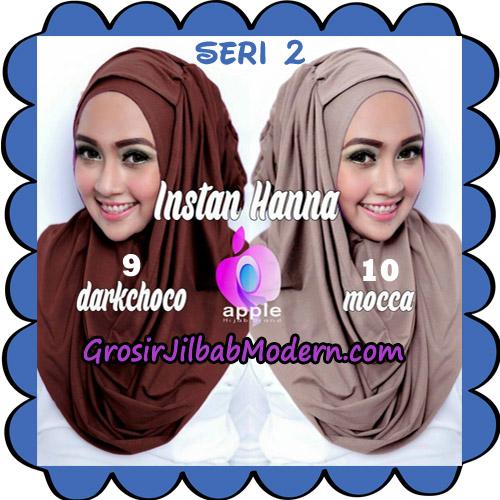 Jilbab Pashmina Instant New Hanna Seri 2 Original By Apple Hijab Brand No 9 - 10