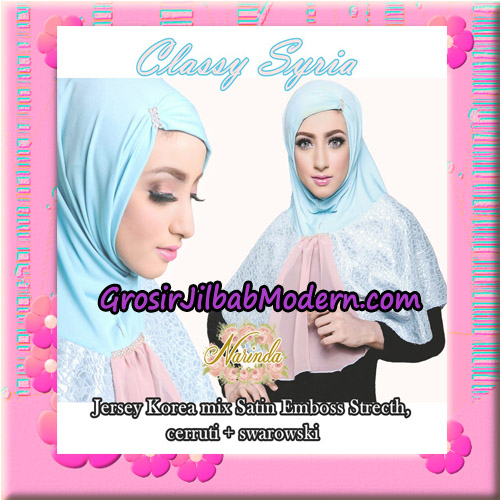 Jilbab Simple Modis Syria Classy Original By Narinda Hijab Brand - Detail