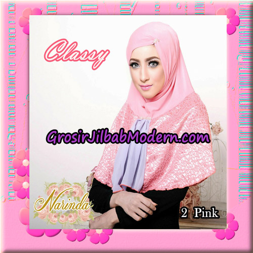 Jilbab Simple Modis Syria Classy Original By Narinda Hijab Brand No 2 Pink