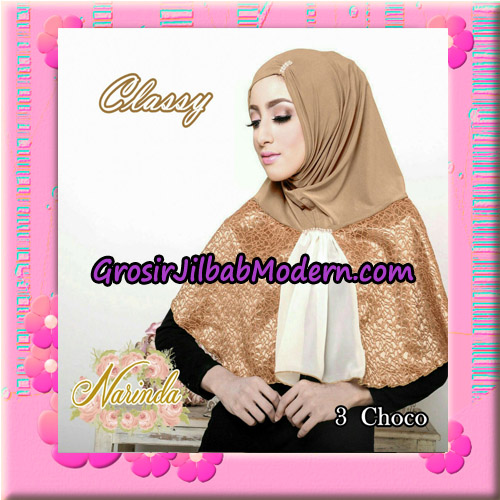 Jilbab Simple Modis Syria Classy Original By Narinda Hijab Brand No 3 Choco