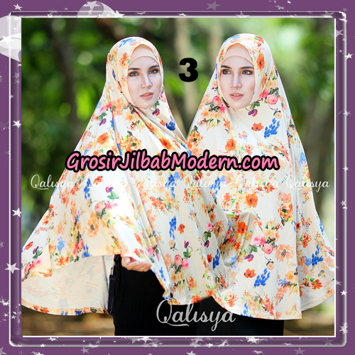Jilbab Cantik Basic Khimar Motif Original by Qalisya Brand No 3