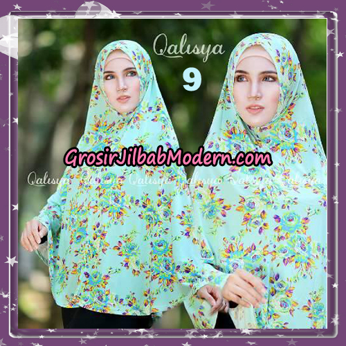 Jilbab Cantik Basic Khimar Motif Original by Qalisya Brand No 9