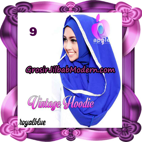 Jilbab Instant Hoodie Vintage Modis Original By Apple Hijab Brand No 9 - Royal Blue