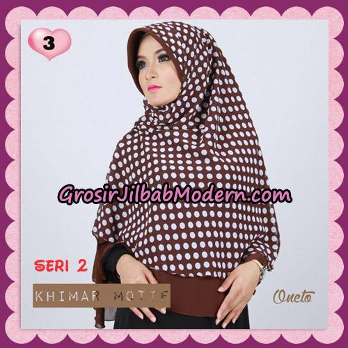 Jilbab Khimar Motif Pet Seri 2 Cantik Support By Oneto Hijab No 3