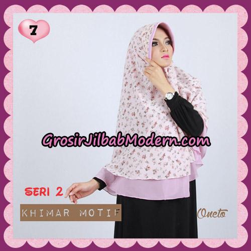 Jilbab Khimar Motif Pet Seri 2 Cantik Support By Oneto Hijab No 7