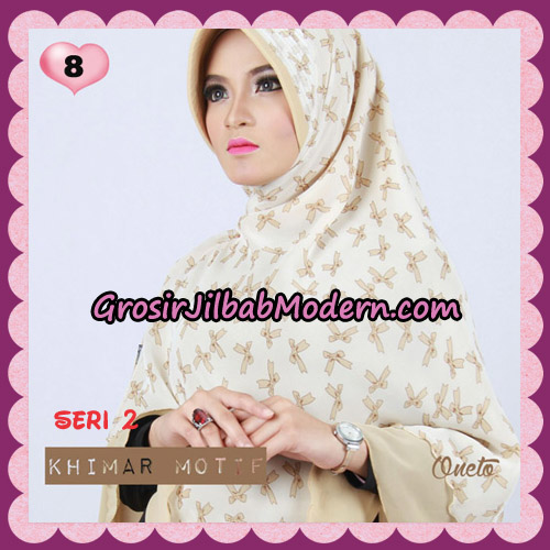Jilbab Khimar Motif Pet Seri 2 Cantik Support By Oneto Hijab No 8