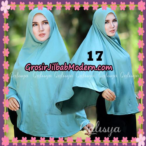 Jilbab Polos Basic Khimar Jersey Jeruk Original by Qalisya Brand No 17 Hijau Telur Asin