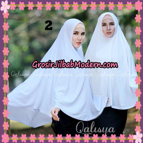 Jilbab Polos Basic Khimar Jersey Jeruk Original by Qalisya Brand No 2 Putih