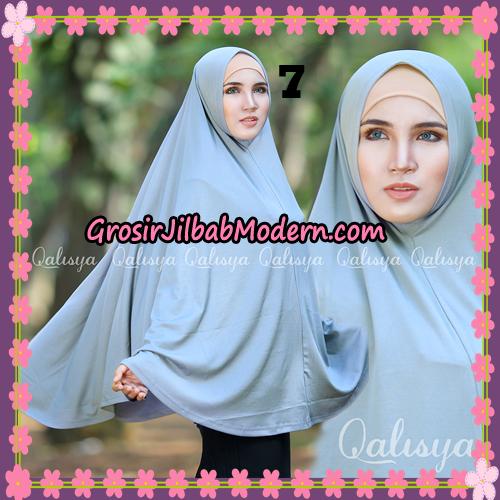 Jilbab Polos Basic Khimar Jersey Jeruk Original by Qalisya Brand No 7 Abu-Abu