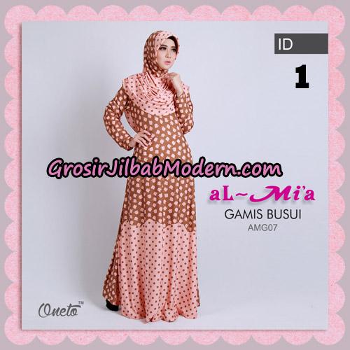 Gamis Busui Cantik Motif Apple AMG07 Original By Almia ( Al-Mi'a Brand ) No 1