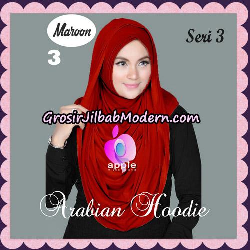 Jilbab Instant Arabian Hoodie Seri 3 Original By Apple Hijab Brand No 3