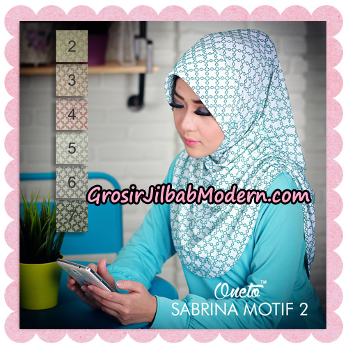 Jilbab Instant Sabrina Motif 2 Support By Oneto Hijab