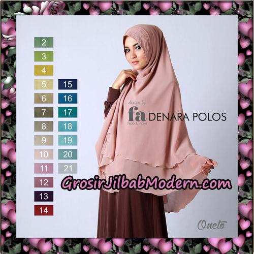 Jilbab Khimar Denara Polos Design Fa Hijab Support By Oneto Hijab