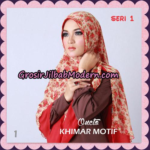 Jilbab Khimar Motif Non Pet Seri 1 Support By Oneto Hijab No 1