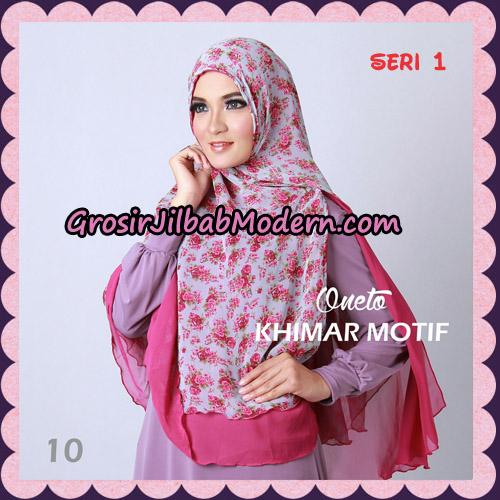 Jilbab Khimar Motif Non Pet Seri 1 Support By Oneto Hijab No 10