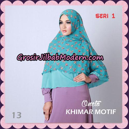Jilbab Khimar Motif Non Pet Seri 1 Support By Oneto Hijab No 13