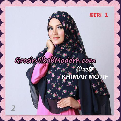 Jilbab Khimar Motif Non Pet Seri 1 Support By Oneto Hijab No 2