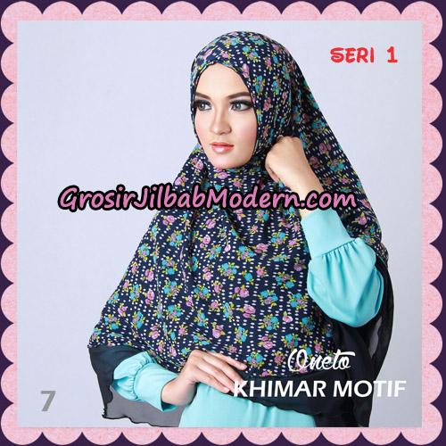 Jilbab Khimar Motif Non Pet Seri 1 Support By Oneto Hijab No 7