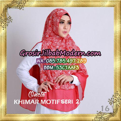 Jilbab Khimar Motif Non Pet Seri 2 Support By Oneto Hijab No 16