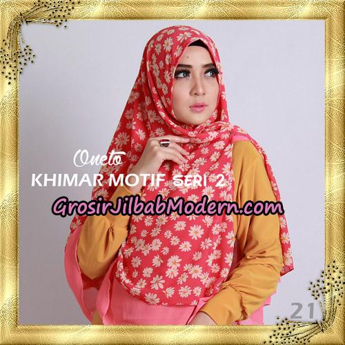 Jilbab Khimar Motif Non Pet Seri 2 Support By Oneto Hijab No 21