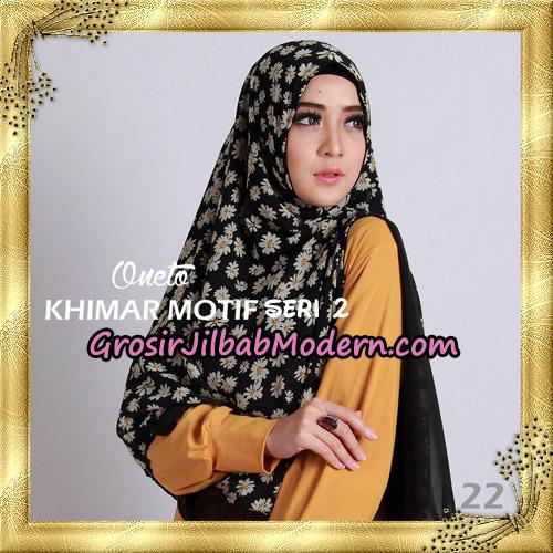 Jilbab Khimar Motif Non Pet Seri 2 Support By Oneto Hijab No 22