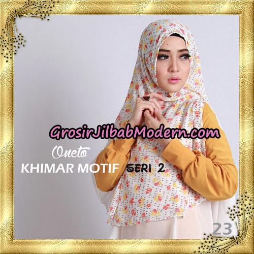 Jilbab Khimar Motif Non Pet Seri 2 Support By Oneto Hijab No 23