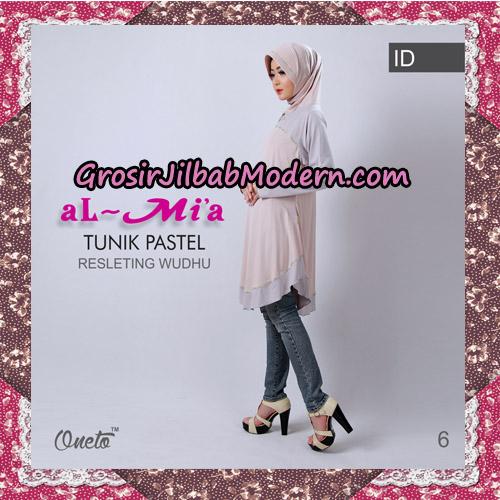 Jilbab Lengan Tunik Pastel Original By Almia ( Al-Mi'a Brand ) No 6