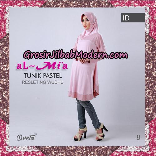Jilbab Lengan Tunik Pastel Original By Almia ( Al-Mi'a Brand ) No 8
