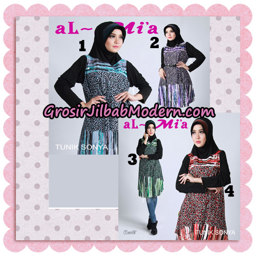 Jilbab Lengan Tunik Sonya Original By Almia ( Al-Mi'a Brand )