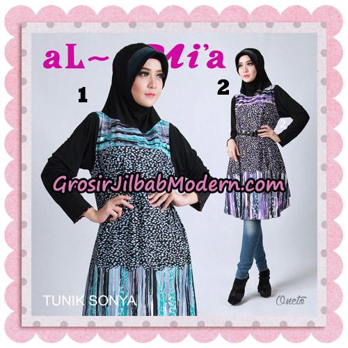 Jilbab Lengan Tunik Sonya Original By Almia ( Al-Mi'a Brand ) No 1 & 2